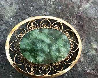 catamore gold filled brooch