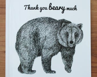 Thank you beary much thank you card