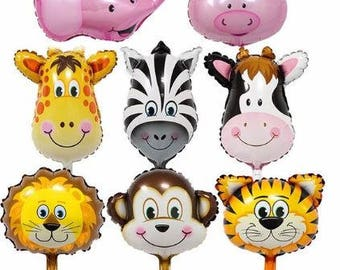 Small jungle animal balloon kit.