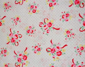 Sugar Flower Fall in White, Lucien Fabric