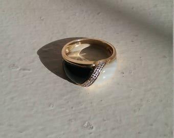 Vintage Black & White Ring