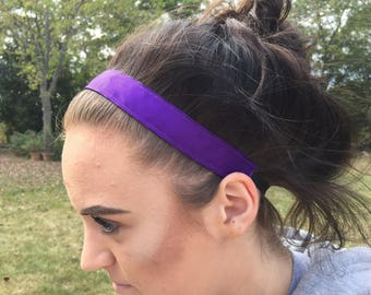 Plain Headbands for Women, Solid Headband  No Slip, Choice of Size & Color, Colored Headbands for Girls, No Slip Headband