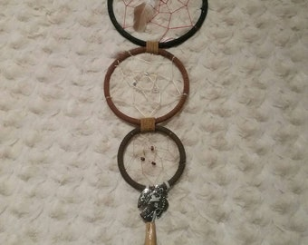 5, 4, 3 inch connected rings dreamcatcher