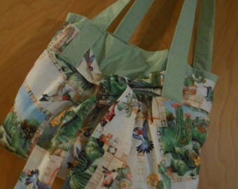 Hummingbird theme bag, all handmade