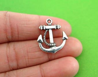5 Silver Anchor Charms (CH083-5)
