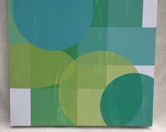 Modernist / Mid Century Style Monoprint on Panel