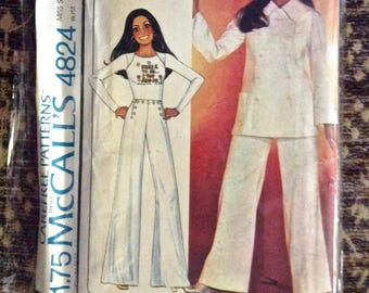 Vintage McCall's Carefree Patterns Marlo's Corner #4824 Women's Size 12 Bust 34 UNCUT