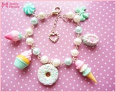 Mint&Pink Pastel Sweets Kawaii Bracelet by Dolly House