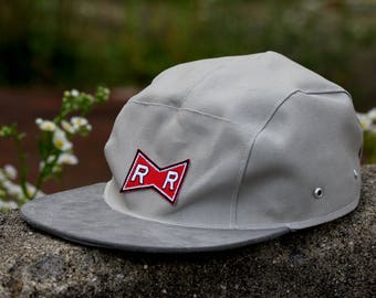R&R Gray Canvas Camper Hat