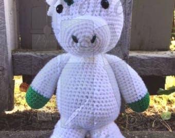 University Colors Crochet Unicorn/Stuffed Unicorn/Amigurumi Unicorn