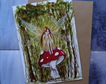 Woodland Wish A5 Art Card