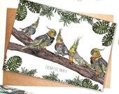 Cockatiel Party Greeting Card