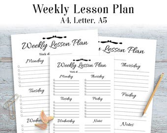 Lesson Plan Etsy - Lesson plan blank template