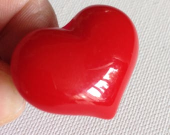 Ring - Gorgeous funky chunky red heart shaped plastic ring