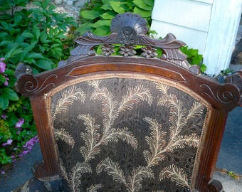 Victorian Walnut Chair Eastlake Upholstered Chair Local Pick-Up, Offers Considered