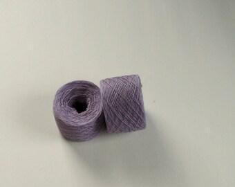 LILAC DUST Silk Cotton blend 2428 yards recycled yarn