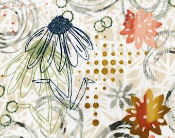 RJR Urban Artifacts Leslie Tucker Jenison Vertical Garden Stucco Floral Fabric 3063-002 BTY 1 Yd