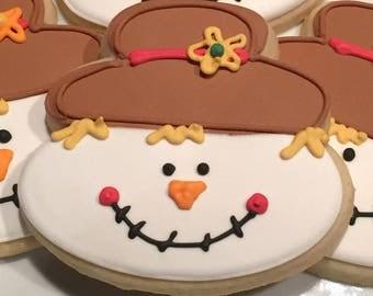 Scarecrow/Autumn cookies, cookie favors