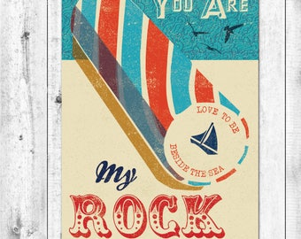 AHOY! My Rock Seaside Card
