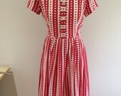 1950s cotton day dress - Mode a Day - California