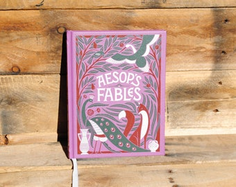 Hollow Book Safe - Aesop's Fables - Leather Bound Hollow Book Safe