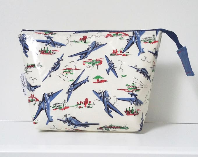 Limited Edition Vintage Planes wipe clean wash bag