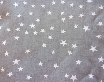 fabric star grey and white 50 * 70 cm