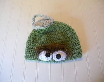 Adult Grouch Hat - Fans of Oscar with or withou Trash Can Lid