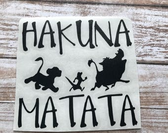 Hakuna matata Vinyl Decal Car Laptop Wine Glass Sticker