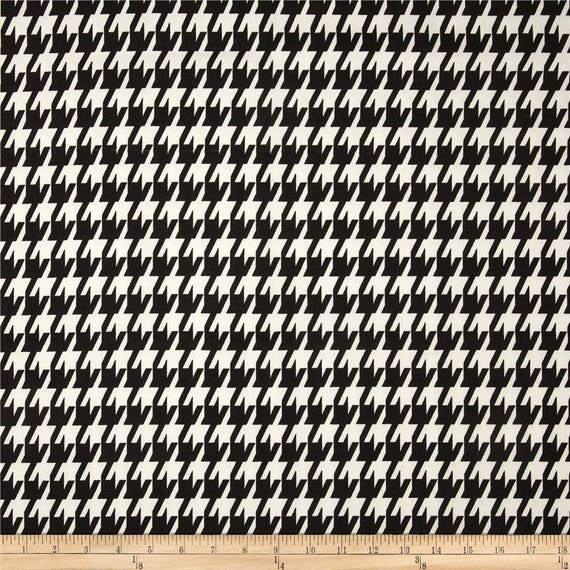 Black Houndstooth Fabric By The BOLT Home Decor Upholstery