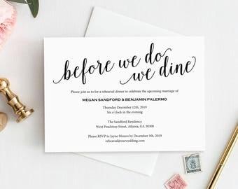 Rehearsal Dinner Invitation, Rehearsal Dinner Invitation Printable, Rehearsal Invitation, Wedding Rehearsal, PDF Instant Download, MM01-1