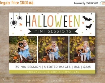ON SALE Halloween Mini Session Template - photography marketing template - mini session template - INSTANT Download