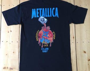 Vintage 1997 Metallica Club Covering the World Tour Rock Concert T Shirt - Large