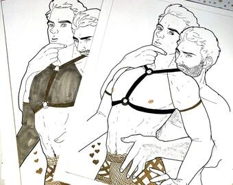 Sterek lingerie drawing