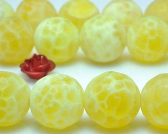 37 pcs of Fire Agate matte round beads in 10mm