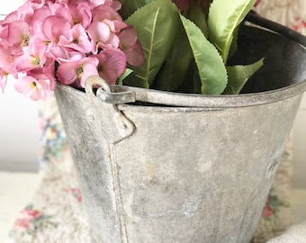 A beautiful vintage zinc bucket