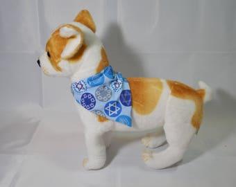 Hanukkah pet on collar bandana, Hanukkah pet gift, Hanukkah dog, Hanukkah cat, Jewish gift, dog bandana, cat bandana, pet gift