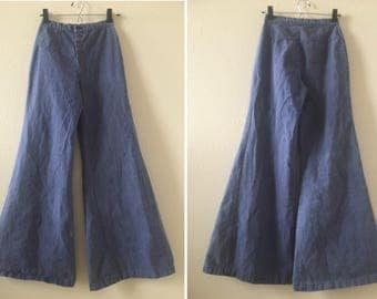 vintage 60's/70's BLUE BELL BOTTOMS - jeans, extra small, small, Cheap Jeans, high rise