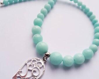 SALE! Mint Green Quartz Necklace