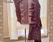 Luxurious Reversible Baby Alpaca Wrap,Baby Alpaca Shawl,One size Alpaca Wrap,Double layer ladies alpaca shawl,My Peruvian Treasures