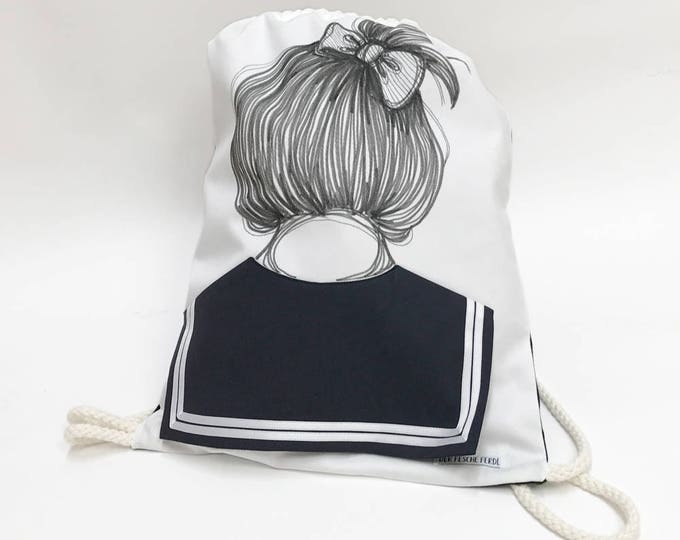 Sailor Bag THERESA - Drawstring backpack with Sailor Collar