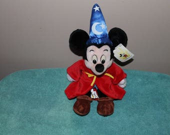Vintage Mickey Mouse Sorcerer Mickey Bean Bag plush toy