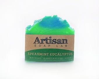 Spearmint Eucalyptus Handcrafted Soap