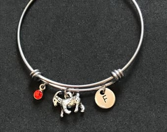 Personalized Goat Bangle Personalized Goat Bracelet Goat Jewelry