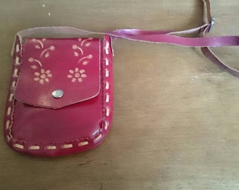 Vintage Leather holiday purse/pouch
