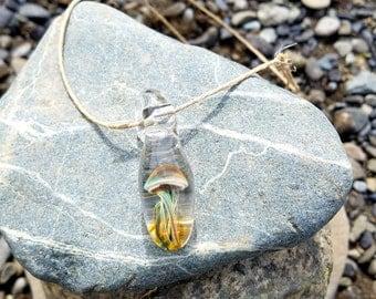 Glass Jellyfish Pendant
