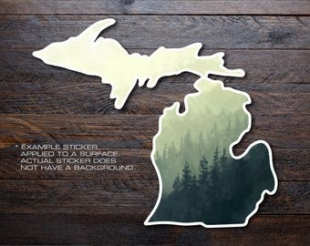 Michigan Mitten Vinyl Decal Sticker A7