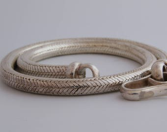 Huge Thick sterling silver snake chain necklace / Indian silver snake chain / thick snake chain / silver rope chain / serpent chain / 2294