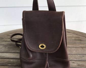 Vintage Coach backpack #9960 in chocolate brown