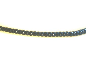 Black thin Beaded Necklace
